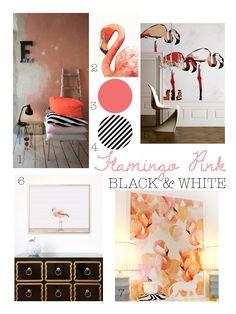 Color Inspiration: Flamingo Pink, Black, White