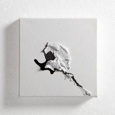 Alessandra Angelini, Accenti (2), inchiostro di china e paste materiche, 2014, cm 20 x 20
