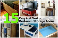 15 Easy And Genius Bedroom Storage Ideas - http://www.diyprojectsworld.com/15-easy-and-genius-bedroom-storage-ideas.html