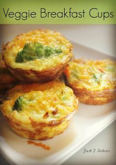 Veggie Breakfast Cups Recipe | #recipes #breakfast #veggies http://just2sisters.com/veggie-breakfast-cups-recipe/