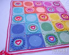 Inspiration...CROCHET PATTERN - not free - Follow Your Heart a blanket with by TheHatandI