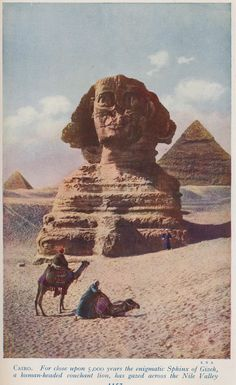 cairo gizeh sphinx 1923
