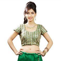"Green Navratri Ready Made Padded Saree Blouse. ""Ra apparels"" launched by MuHeNeRa Ra 6"