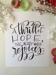 A thrill of hope...: