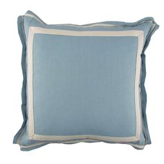 Ice linen 20 X 20 throw cushion with white twill tape, available at Cerulean Interiors!