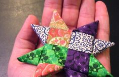 The Knitting Stagehand: Woven Star Tutorial Quilted Christmas Ornaments, Fabric Ornaments, Christmas Sewing, Noel Christmas, Handmade Christmas, Christmas Quilting, Quilting Projects, Sewing Projects, Craft Projects