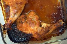 Apricot-glazed sriracha chicken -- this sauce is so delicious and super easy.  Serve with coconut rice.