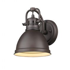 Induce a shade of vintage accent to your living space by adding this Golden Lighting Duncan Rubbed Bronze One Light Bath Light. Outdoor Barn Lighting, Outdoor Wall Sconce, Outdoor Walls, Wall Sconce Lighting, Farmhouse Lighting, Bedside Lighting, Outdoor Living, Bathroom Sconces, Bathroom Vanity Lighting