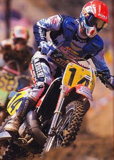 These are pictures from the career of five time World Motocross Champion Georges Jobe. Yamaha Motocross, Motocross Love, Motocross Riders, Vintage Motocross, Dirt Bike Racing, Off Road Racing, Motorcycle Gear, Dirt Biking, Ayrton Senna Helmet
