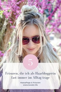 5 very simple everyday hairstyles that everyone can imitate – hairstyles -. Image Notes, Easy Everyday Hairstyles, Media Images, Mirrored Sunglasses, Cool Hairstyles, Hair Care, Braids, About Me Blog, Domingo