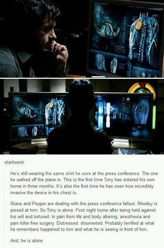 This is why we protect Tony Stark, because he is a man who made the choices he believed were the right ones, just like we all do