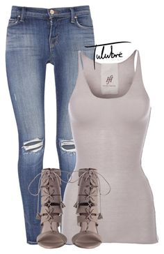 """Untitled #317"" by tulubre ❤ liked on Polyvore featuring J Brand and Friendly Hunting"