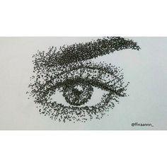 A thousand points #pointlism #stippling #eye #art #drawing #draw #illustration #olhos #arte #desenho #ilustração #photo #photography #details #tattoo #blackandwhite #laurenjauregui #ink