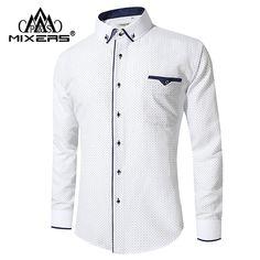 New Arrival 2018 White Shirt Men Long Sleeve Business Casual Shirts Men Dress Shirts Comfortable Clothing Camisa Masculina - Apparel & Accessories/Men's Clothing Costume Shirts, Dress Shirts, Business Shirts, Business Casual, Casual Shirts For Men, Men Casual, Chemise Slim Fit, Mandarin Collar Shirt, White Shirt Men