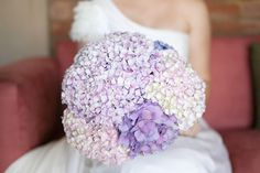 Pretty lavender hydrangea bouquet but maybe add a little contrast color! Yolandé Marx Photography, Bouquet by Bunches @ Home Purple Hydrangea Bouquet, Hortensia Hydrangea, Pastel Bouquet, Purple Hydrangeas, Hydrangea Colors, Lavender Bouquet, Bouquet Flowers, Wedding Wishes, Our Wedding