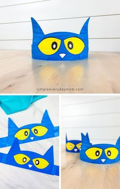 This simple Pete the Cat headband can be made in two ways! You can use it as a craft and make with colored paper or print it out on white paper and color it in with crayons or markers! It's fun for toddlers, preschool and kindergarten kids.  #simpleeverydaymom #kidscrafts #headbandcrafts #preschoolactivites #toddlers #prek #kindergarten Pre K Activities, Preschool Learning Activities, Preschool Activities, Cat Headband, Headband Crafts, Kindergarten Language Arts, Preschool Kindergarten, Pete The Cat Costume, Prek Literacy