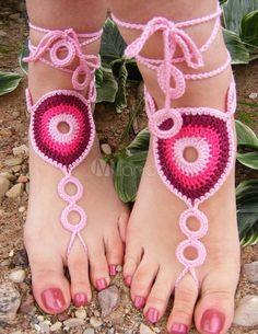 Die 66 Besten Bilder Von Häkeln Barfuß Sandalen Crochet Barefoot