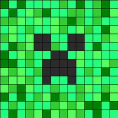 Minecraft Creeper Perler Bead pattern - gonna try to use this for crochet graphing Minecraft Quilt, Minecraft Beads, Minecraft Pattern, Minecraft Party, Minecraft Crochet, Minecraft Tips, Minecraft Bedroom, Minecraft Crafts, Creeper Minecraft