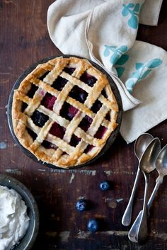 I wish I would have looked at this last Friday... Mixed Berry and Lemon Verbena Pie would have been great on the 4th!