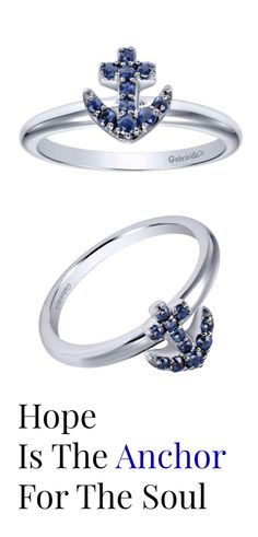 This sapphire ring is a nautical note to any wardrobe. Give this beautiful piece to a special someone for any occasion! The sapphire stones are absolutely gorgeous in this 14k White Gold And Sapphire Ring by Gabriel & Co.