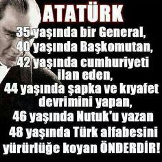 ✿ ❤ O'nun adı ATATÜRK! Turkish People, I Love You Forever, Great Leaders, World Peace, Greater Than, World Leaders, Hero, Teaching, Shit Happens