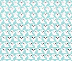 Baby blue adorable winter seal illustration pattern fabric by little smilemakers studio via Spoonflower - custom fabric, wallpaper, decals & textiles - home textiles and fashion print inspiration