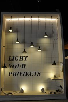 """light your projects"" Lighting can complete your exhibition stand...so make sure you use it!"