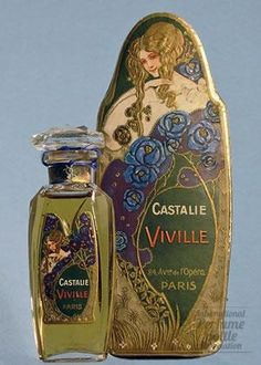 Vintage French perfume - beautiful labels