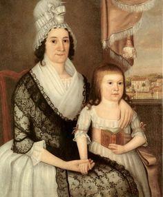 """Pamela Sedgwick and Child,"" 1795,by Joseph Steward (1753-1822)"