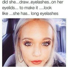 I saw this on s barbie at Walmart... she had eyelashes and the drawn eyelashes it looked just like this and i was like make up your mind