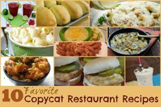 10 Favorite Copycat Restaurant Recipes #recipes