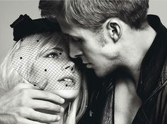 Michelle Williams and Ryan Gosling. Styled by Lori Goldstein. Photographed by Inez van Lamsweerde and Vinoodh Matadin.