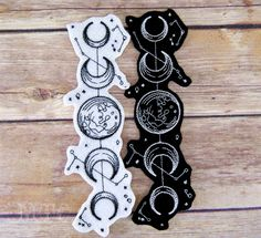 Moon Phases Vintage Celestial Iron On Embroidery Patch MTCoffinz - Choose Size / Color - Купцова Евгения - Moon Phases Vintage Celestial Iron On Embroidery Patch MTCoffinz - Choose Size / Color Moon Phases Vintage Celestial Iron On Embroidery Patch - Tribal Tattoos, Tattoos Skull, Trendy Tattoos, Body Art Tattoos, Tattoo Drawings, Star Tattoos, Cool Tattoos, Tatoos, Awesome Tattoos