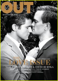 Best Magazine Cover - Neil Patrick Harris & David Burtka Cover 'Out' February 2012