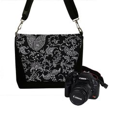 Digital Slr Camera Bag DSLR Camera Bag Purse Womens Camera Bag Case  - Deluxe Pretty Paisley