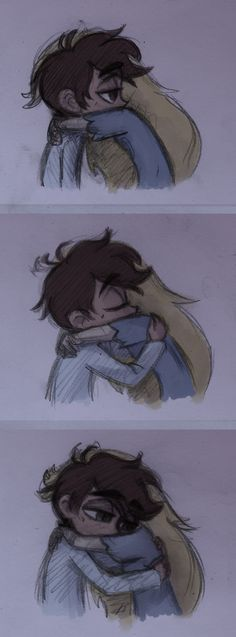STARCO /// no one can say their hugs aren't meaningful /// ikr! I ship them sooo much Cute Cartoon Wallpapers, Cartoon Pics, Cute Drawings, Drawing Sketches, Starco Comic, Star Butterfly, Star Vs The Forces Of Evil, Force Of Evil, Fan Art