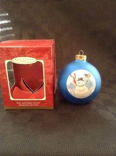 Hallmark Keepsake Stars And Stripes America Flag Christmas Tree Ornament