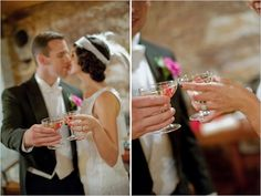vintage wedding cocktails coordinated by www.kiss-the-bride.net