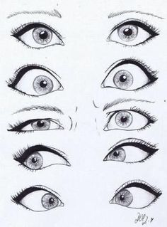 drawing eyes by sliafb