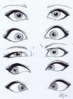 drawing eyes by sliafb