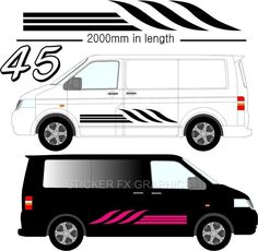 Graphic Decals Self Adhesive Vinyl Stickers Any Vehicle VW Campers Motorhome D45 #STICKERFXGRAPHICS
