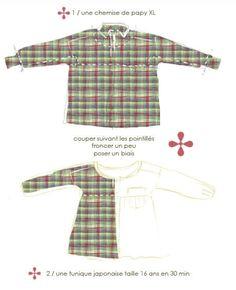 easy tunic from men's shirt