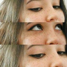 Стрелки для нависшего века.  Провести тонкую линию по росту ресниц. Вывести прямой хвост в точку пересечения линии нижнего века и линии подвижного века. Утолщить на конце. Cute Makeup, Mean Girls, Beauty Make Up, Natural Makeup, Eyes, Instagram Posts, Hair, Natural Make Up, Pretty Makeup