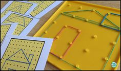 2D Geometry - Are you looking for engaging math centers that are no prep for you and that your students will love to use? My first graders loved this center and the 11 other centers that are part of this resource. Click now to see all the fun activities included.