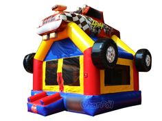 Cheap commercial race car inflatable bounce house for kids for sale Inflatable Bounce House, Bouncy Castle, Bouncers, 3rd Birthday Parties, Playground, Race Cars, Things That Bounce, Commercial, Racing