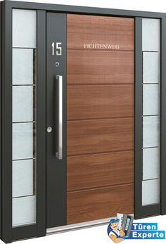 Haustüre AGE 1050 mit Holzdekor