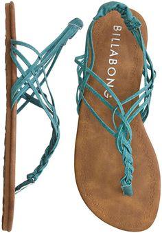 turquoise leather sandal