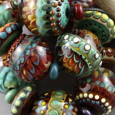 Magma Beads ~Earth Dancer~ Handmade Lampwork Beads.