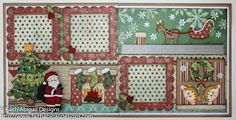 """Faith Abigail Designs - Night Before Christmas 12""""x12"""" Double Page Scrapbook Layout Video Tutorial - Little Scraps of Heaven Designs"""