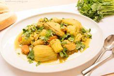 Chicken Tagine with Artichoke, Fennel & Peas